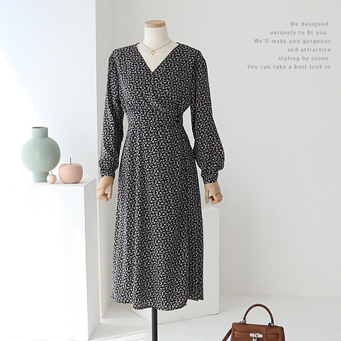 jooen-OPS3536/Diane V Wrap Dress(55~통통66)♡韓國女裝連身裙