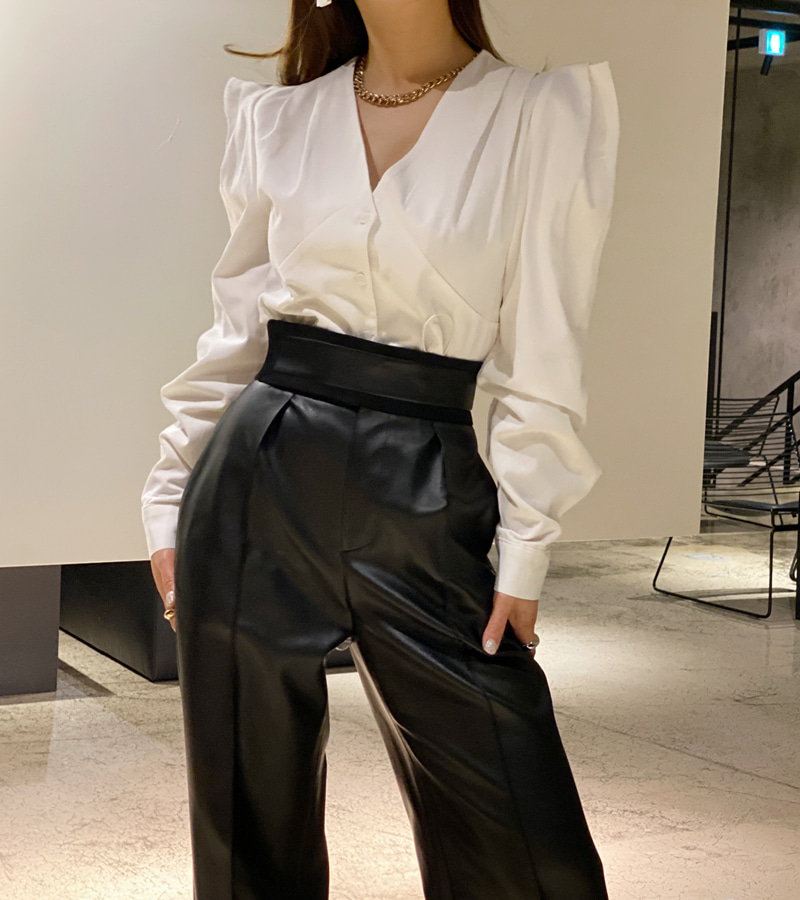 walkingcoco-String Puff Blouse♡韓國女裝上衣