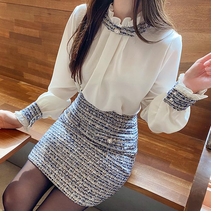 myfiona-트위드진주blouse a0935 - 러블리 로맨틱룩 1위 쇼핑몰 피오나♡韓國女裝上衣