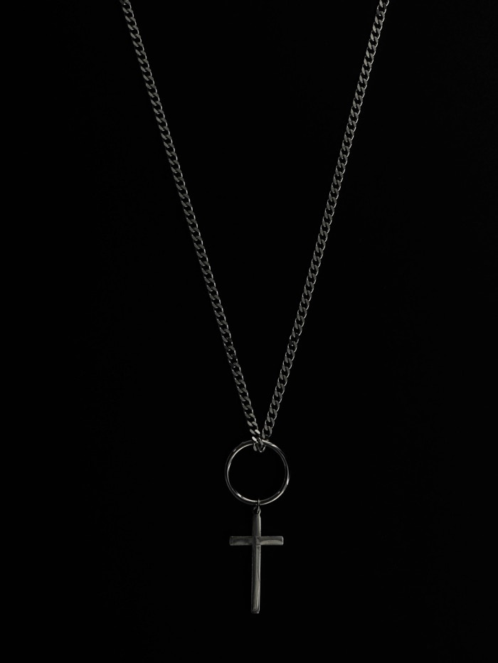justyoung-MB Cross Necklace♡韓國男裝飾品