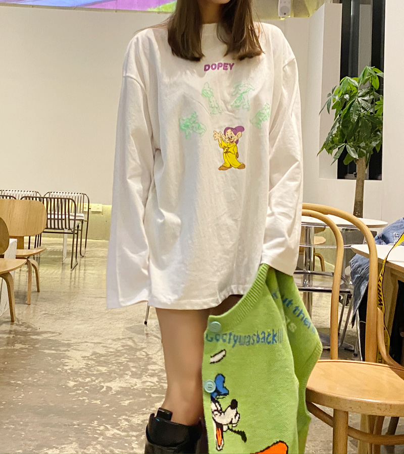 walkingcoco-Dopey Tee♡韓國女裝上衣