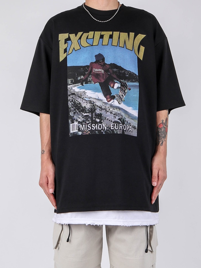 justyoung-MY Exciting Short Sleeve Tee (4color)♡韓國男裝上衣