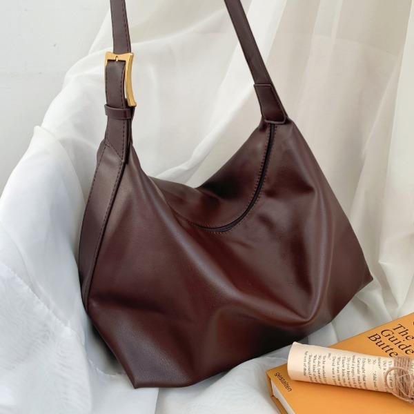 everytail-로우 버클 호보백 클래식 골드버클 빈티지 빅백(2color)♡韓國女裝袋
