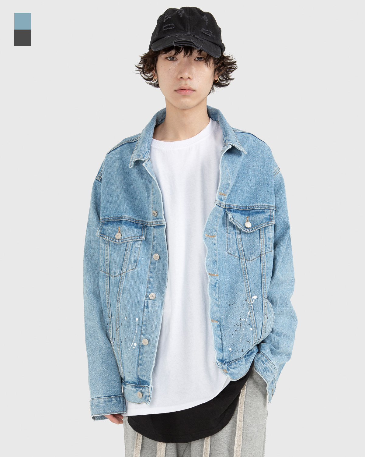 raucohouse-PAINTED DENIM JACKET - RAUCO HOUSE♡韓國男裝外套