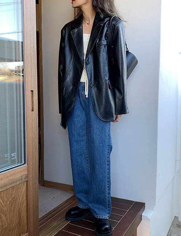 browncode-retro denim pants♡韓國女裝褲