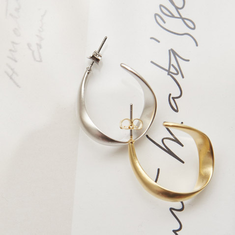 jooen-AC0004/Slim twisted earrings♡韓國女裝飾品
