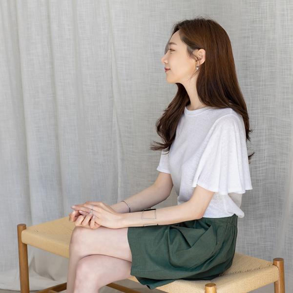 misscandy-[no.18898 날개소매 내추럴핏 린넨티셔츠]♡韓國女裝上衣