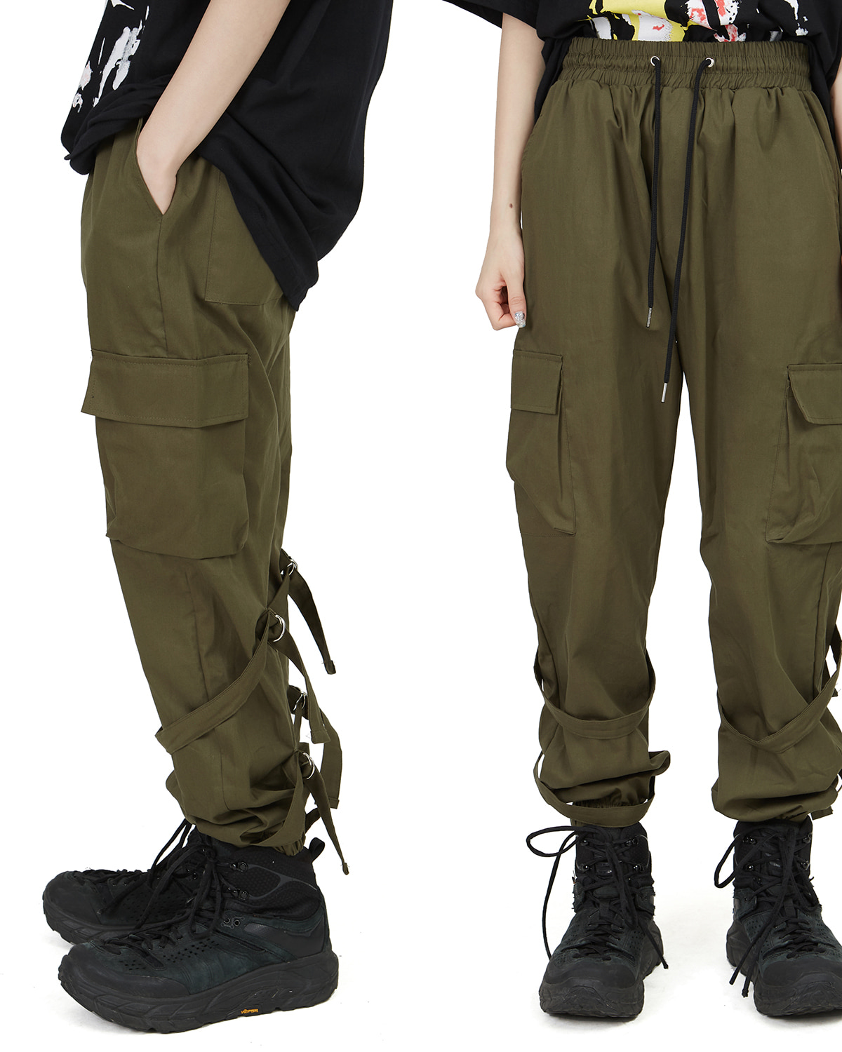 raucohouse-LOOP D-RING CARGO PANTS - RAUCO HOUSE♡韓國男裝褲子