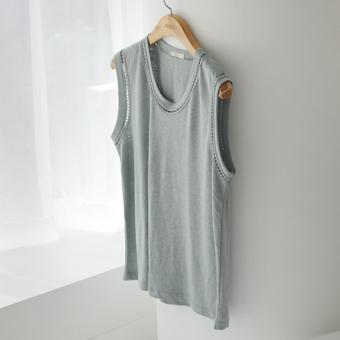 jooen-T4479/Monaco Sleeveless, Top(55~통통66)♡韓國女裝上衣