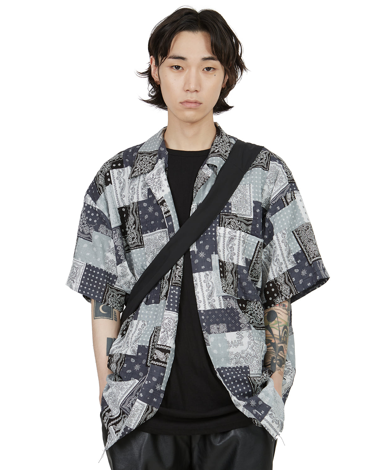 raucohouse-PAISLEY PATCHWORK 1/2 SHIRTS - RAUCO HOUSE♡韓國男裝上衣