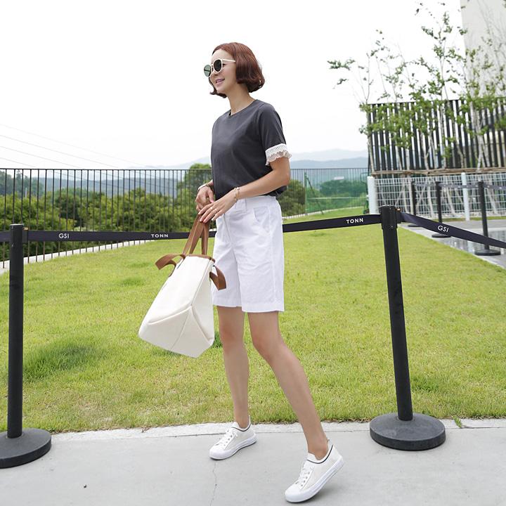 lemite-같이걷자 4부팬츠♡韓國女裝褲