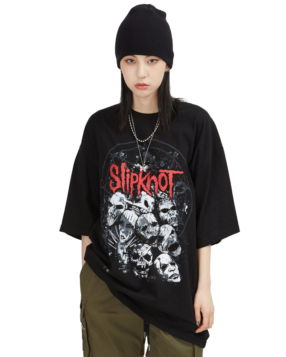 raucohouse-SLIPKNOT PRINTING 1/2 T - RAUCO HOUSE♡韓國男裝上衣