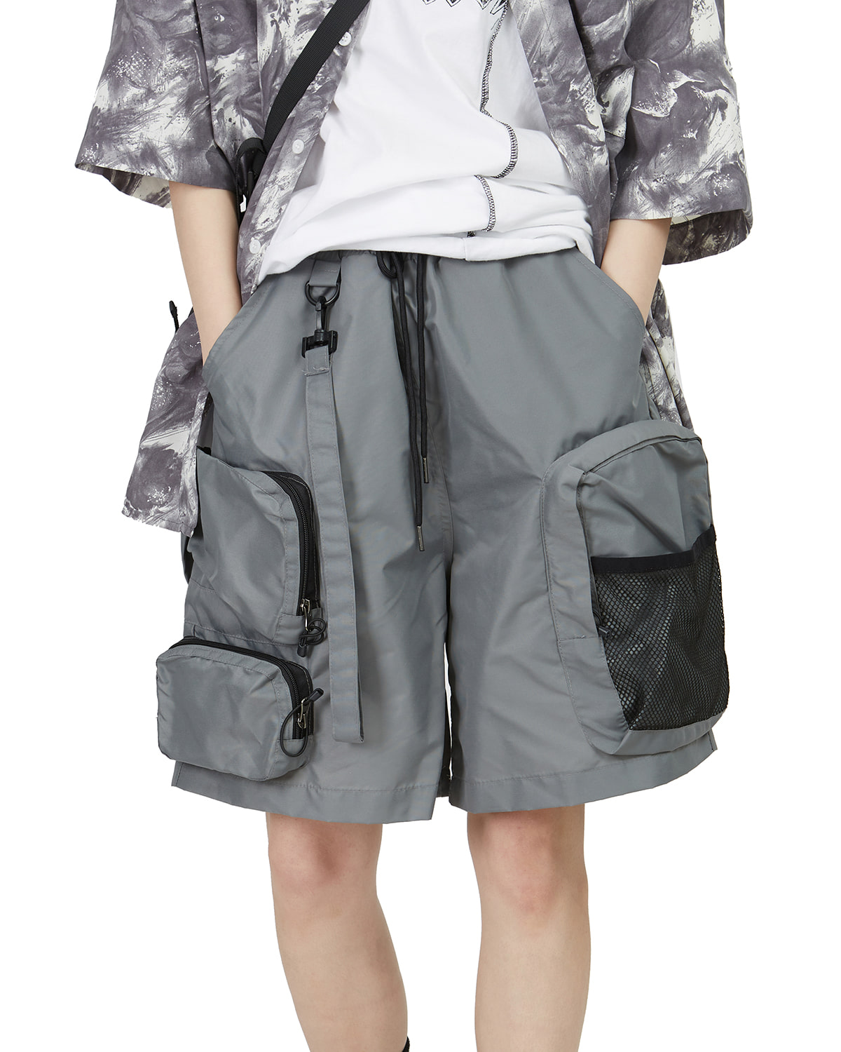 raucohouse-UTILITY MULTI POCKET SHORTS - RAUCO HOUSE♡韓國男裝褲子