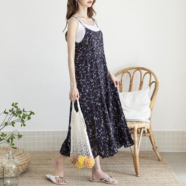 misscandy-[no.17372 미니플라워 슬리브리스 맥시원피스]♡韓國女裝連身裙
