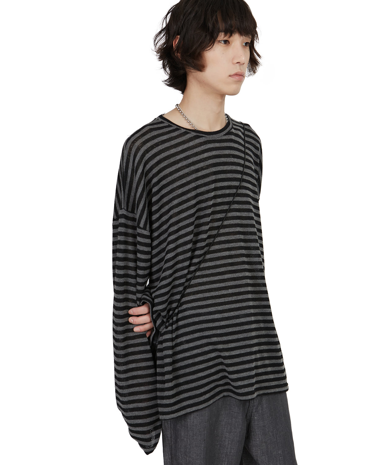 raucohouse-LINEN STRIPE LONG SLEEVE T - RAUCO HOUSE♡韓國男裝上衣