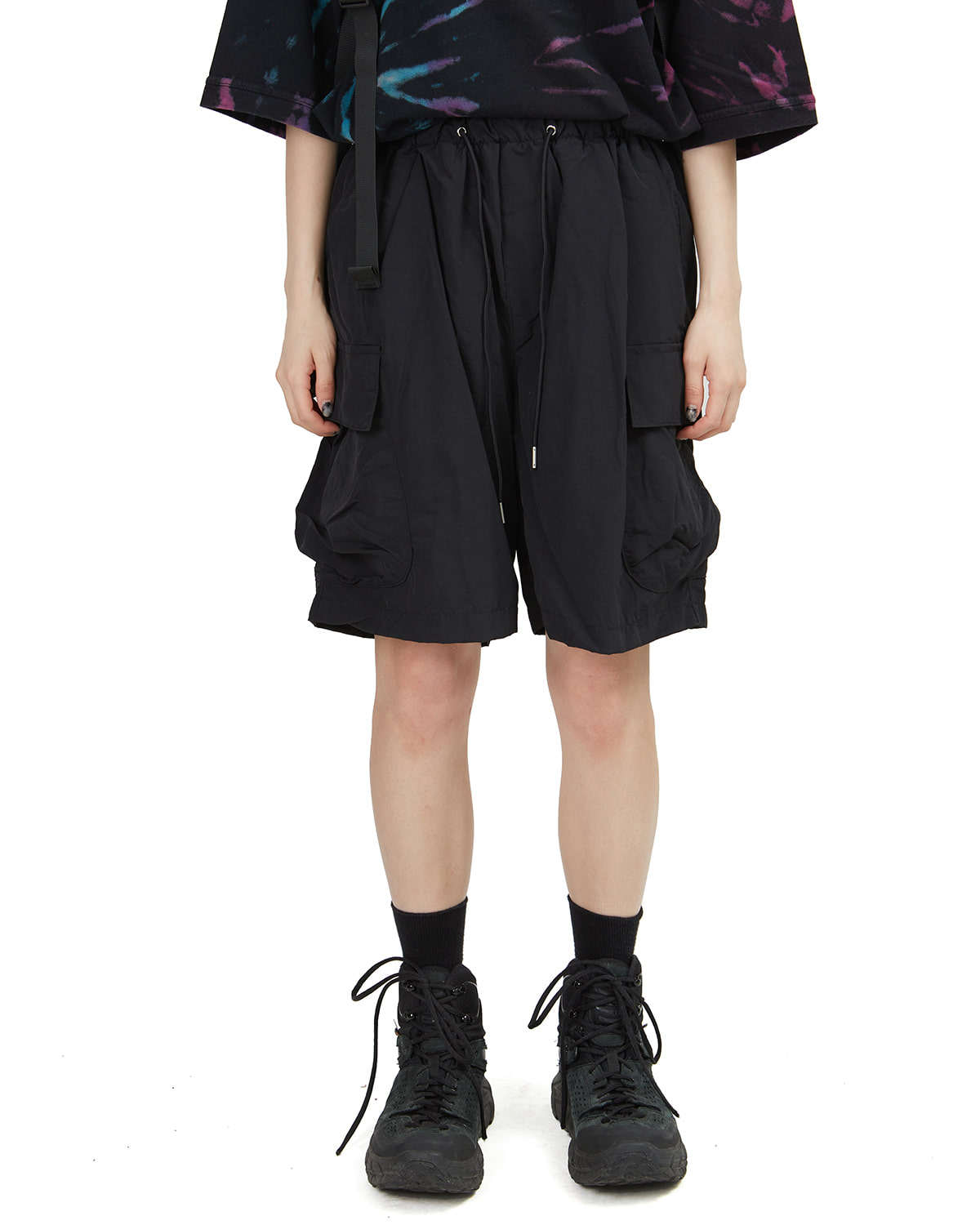 raucohouse-WIDE CARGO NYLON SHORTS - RAUCO HOUSE♡韓國男裝上衣