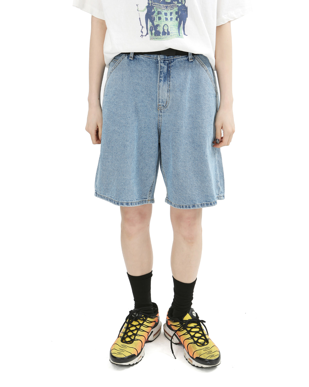 raucohouse-EASY WIDE HALF DENIM PANTS - RAUCO HOUSE♡韓國男裝褲子