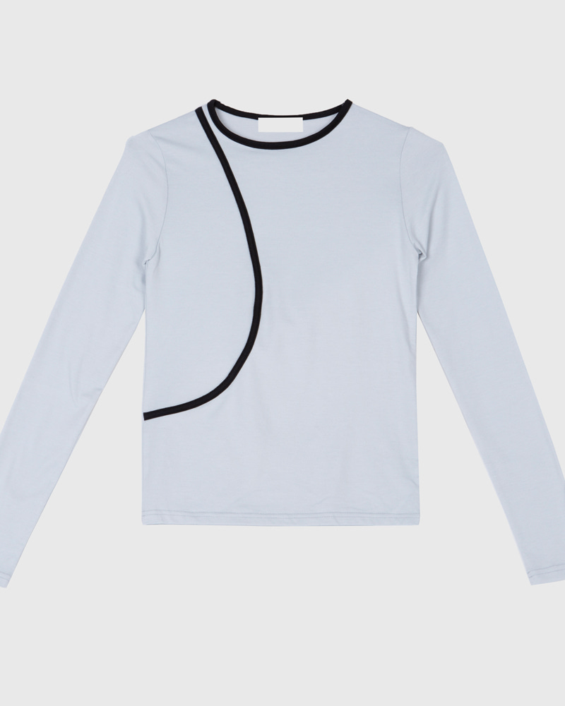 raucohouse-BOLD LINE SOFT LONG SLEEVE T - RAUCO HOUSE♡韓國男裝上衣