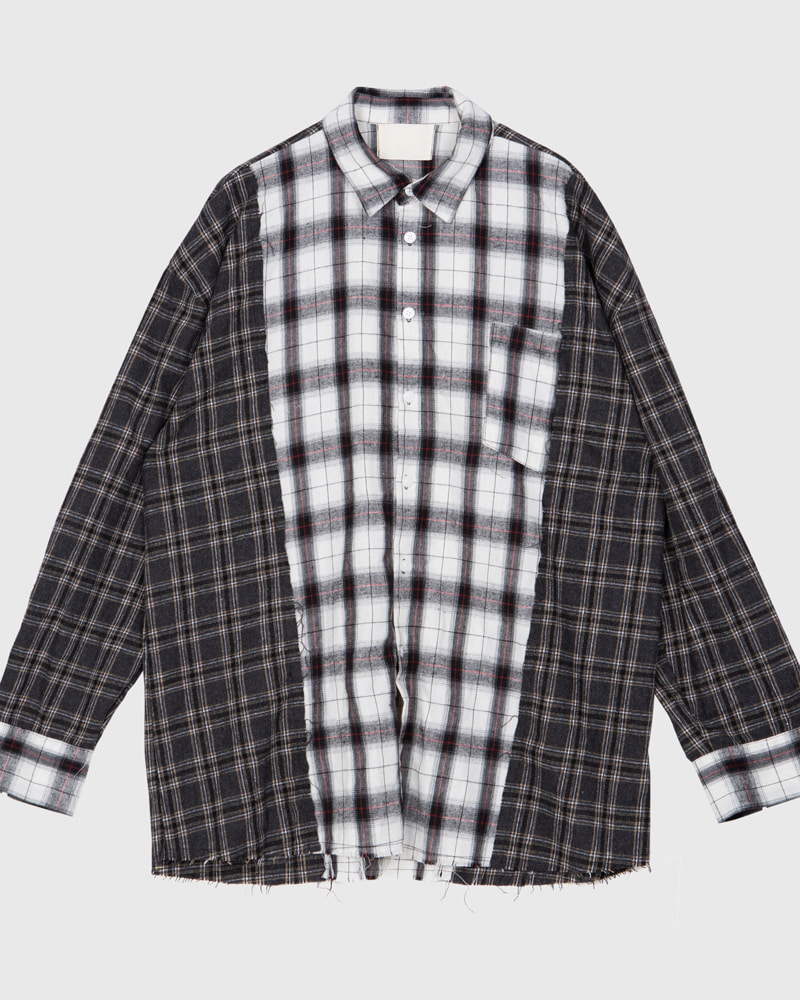 raucohouse-RAMAKE UNBAL CHECK SHIRTS - RAUCO HOUSE♡韓國男裝上衣