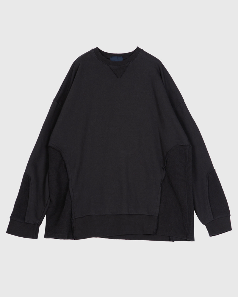 raucohouse-VINTAGE REVERSE PATCHED SWEATSHIRTS - RAUCO HOUSE♡韓國男裝上衣