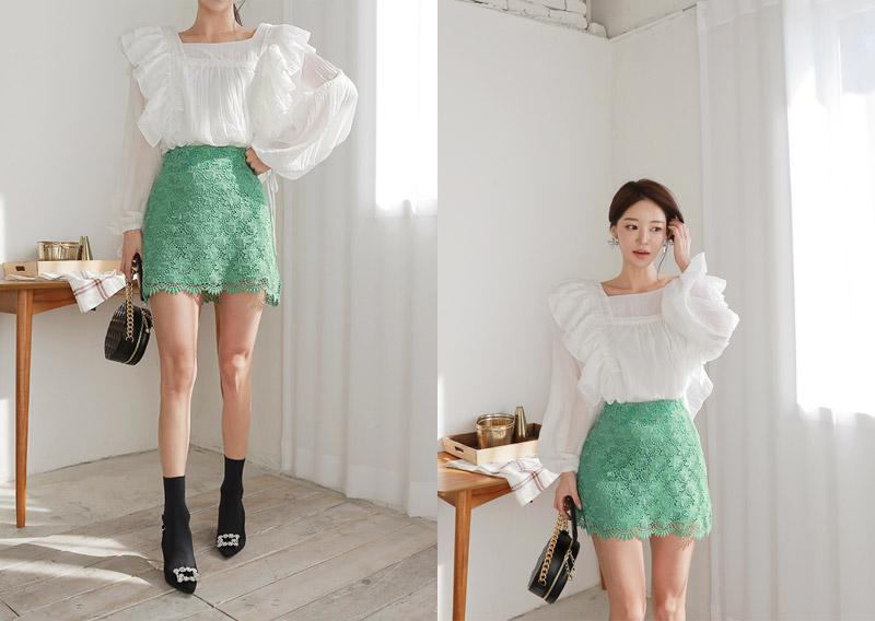 maybins-비마인 레이스 미니 스커트(3color)♡韓國女裝裙