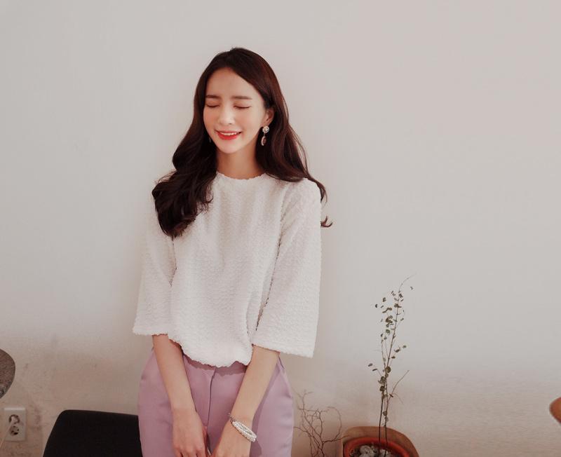 cherryville-[뽀글뽀글 티]♡韓國女裝上衣