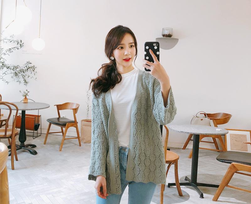 cherryville-[바게트니트 가디건]♡韓國女裝外套