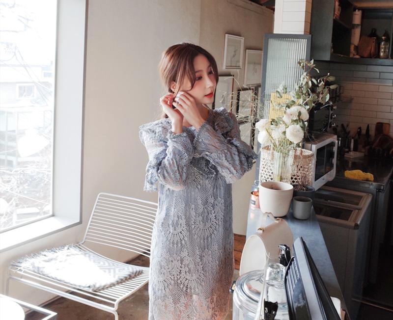 cherryville-[스카이크림 원피스]♡韓國女裝連身裙