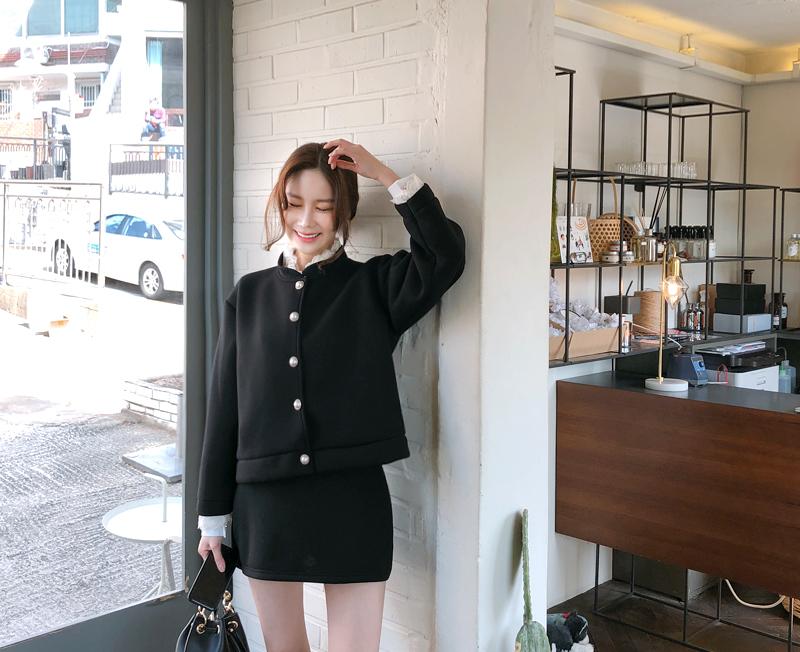 cherryville-[네오플렌핏 가디건+스커트SET]♡韓國女裝套裝