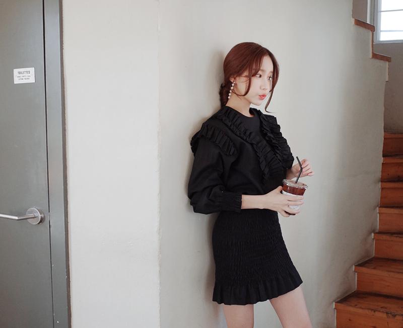 cherryville-[프릴스모그 원피스]♡韓國女裝連身裙
