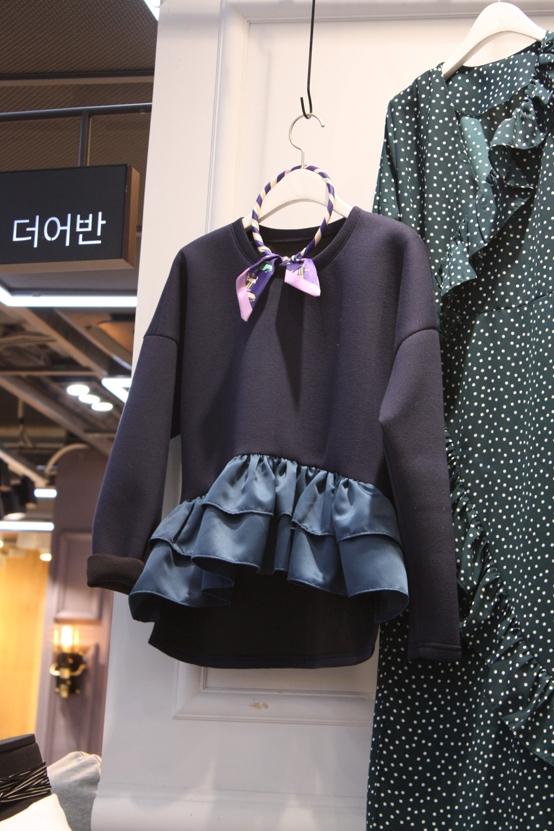 THE URVAN-- 女士長袖拼接襯衣不含其它