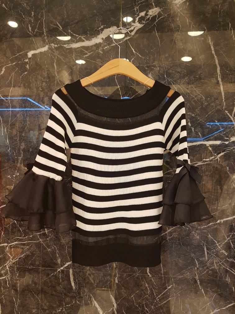 rico2-- 女士簡潔條紋針織衫&