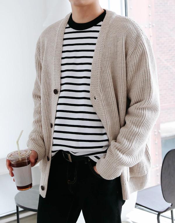 snipershop-라이브 루즈핏 가디건♡韓國男裝外套