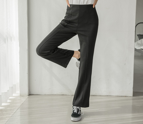 white-fox-쫀쫀허리밴딩하이웨스트팬츠♡韓國女裝褲