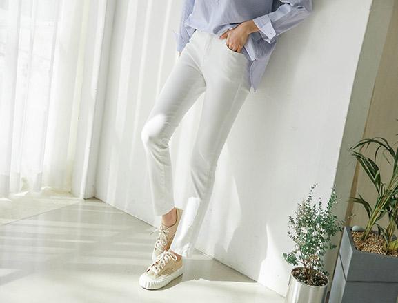 justone-코어 히든밴딩 스키니팬츠( S부터 XL까지! )♡韓國女裝褲子
