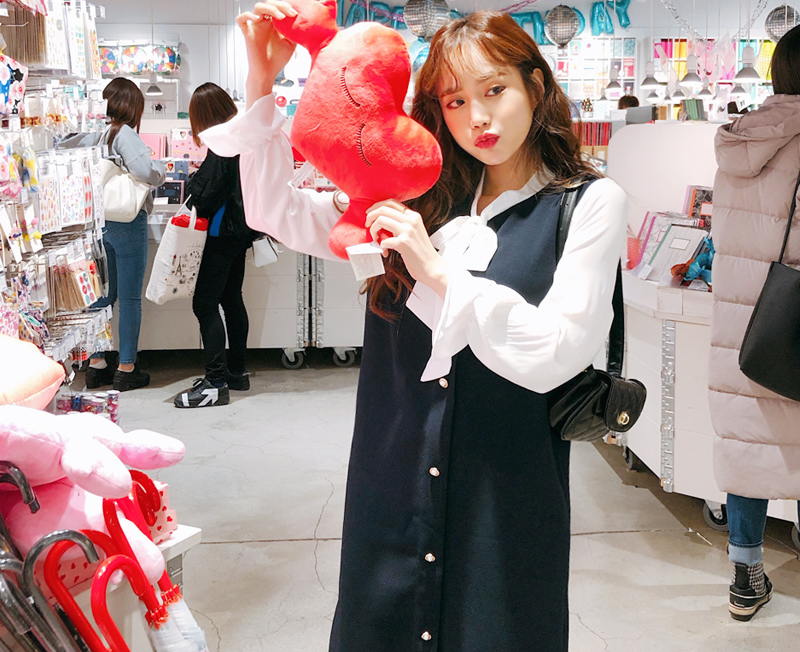 cherryville-[감성자극리본 원피스]♡韓國女裝連身裙