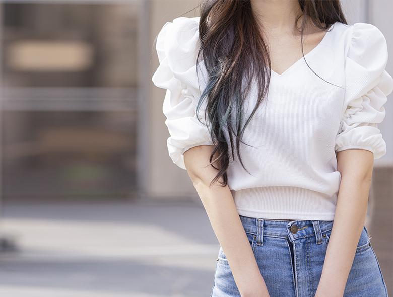 eranzi-[올포유 로맨틱 퍼프 탑]♡韓國女裝上衣