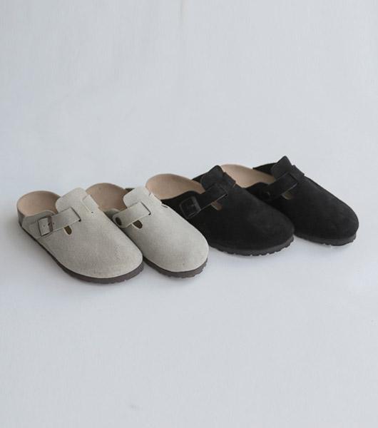 roompacker-룸페커 [버클 스웨이드 뮬 샌들]♡韓國女裝鞋