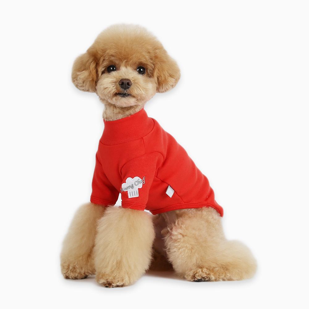 itsdog-[멍 셰프 티셔츠 (레드)]♡寵物衫