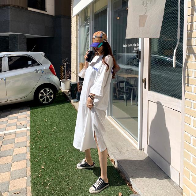 iampretty-[[4306]친구같은너 프린팅 롱원피스]♡韓國女裝連身裙