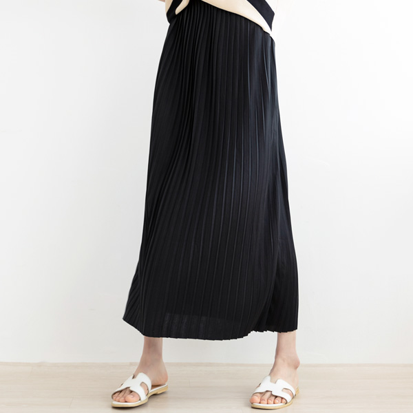 misscandy-[no.18697 플리츠주름 허리밴딩 롱스커트]♡韓國女裝裙