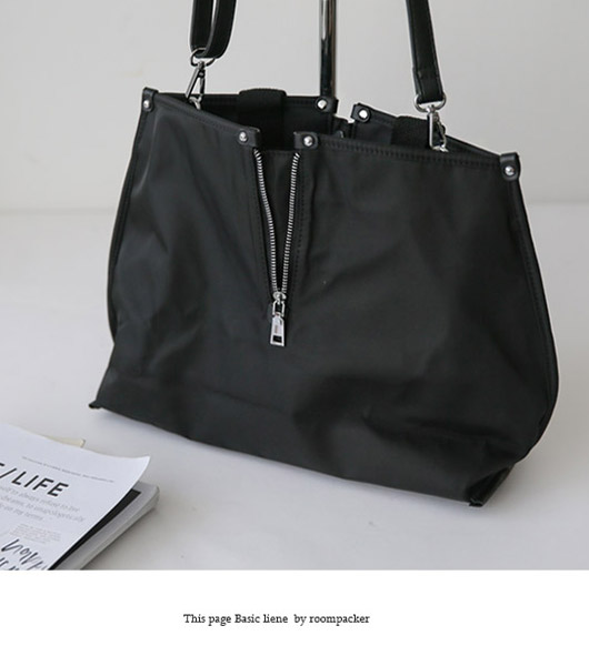 roompacker-룸페커 [모리 스퀘어 지퍼 토트백]♡韓國女裝袋