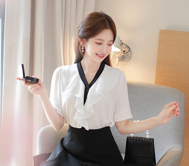myfiona-♥당일배송♥프릴와이*blouse/m8731♡韓國女裝上衣