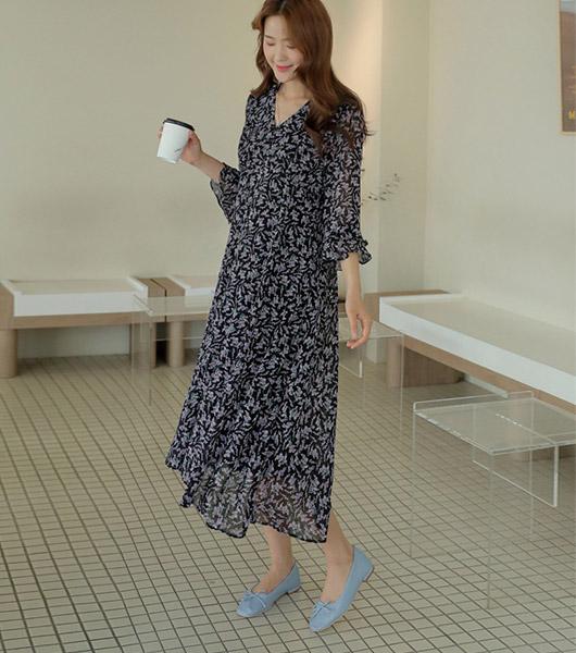 roompacker-룸페커 [로에 스트랩 버튼 브이넥원피스]♡韓國女裝連身裙