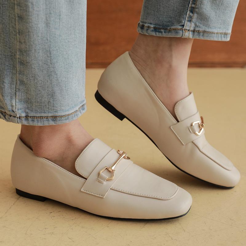 clicknfunny-[리에뜨 골드장식로퍼]♡韓國女裝鞋