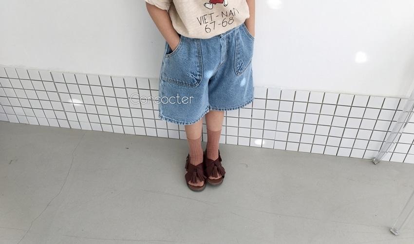 lovely2min-꽁꼬떼 5부포켓청 반바지 (아동복) - lovely2min♡韓國童裝褲