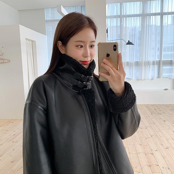 bonzishop-듀크 박시핏 무스탕 자켓 - jk (남여공용)♡韓國女裝外套