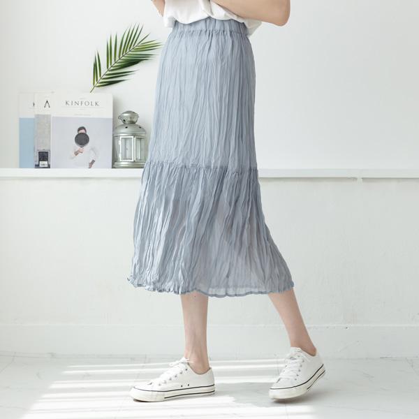 misscandy-[no.18714 허리밴딩 링클 쉬폰스커트]♡韓國女裝裙