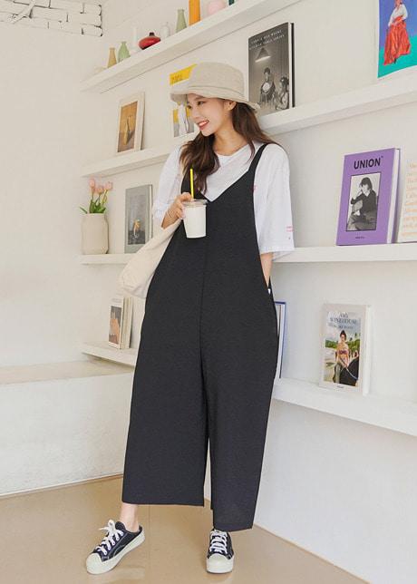 loloten-로시 쿨 멜빵팬츠♡韓國女裝褲