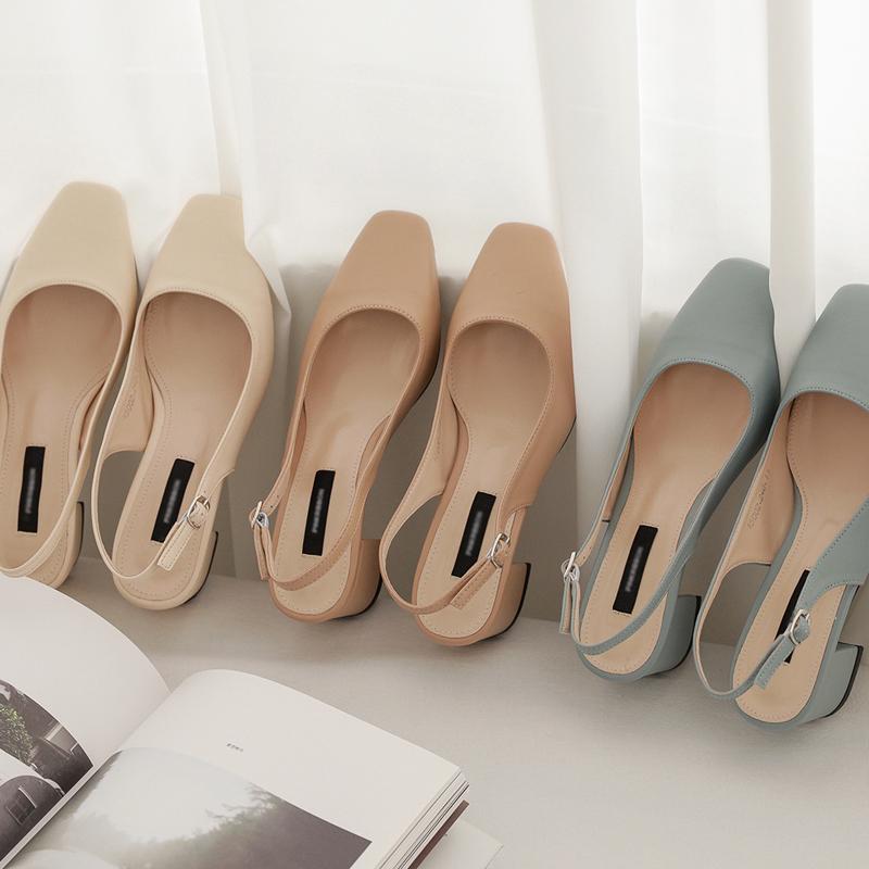 clicknfunny-[틸데아 스퀘어슬링백힐]♡韓國女裝鞋